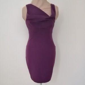 Black Halo purple sleeveless dress Sz 2